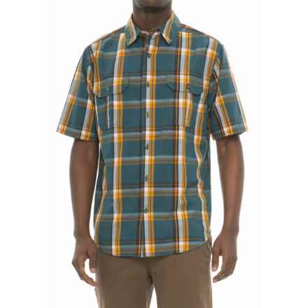 Woolrich Midway Yarn-Dyed Shirt - Short Sleeve (For Men) in Dusk - Closeouts