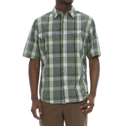 Woolrich Midway Yarn-Dyed Shirt - Short Sleeve (For Men) in Leaf - Closeouts