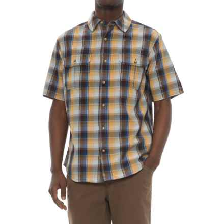 Woolrich Midway Yarn-Dyed Shirt - Short Sleeve (For Men) in Pinecone - Closeouts