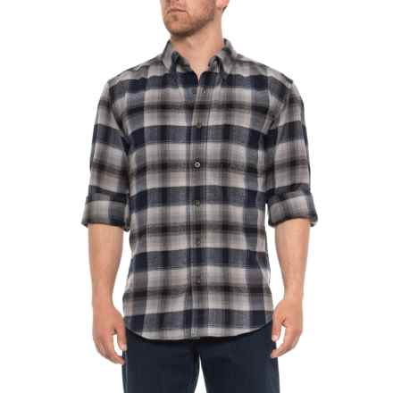 Woolrich Midweight Flannel Shirt - Long Sleeve (For Men) in Gray Plaid - Overstock