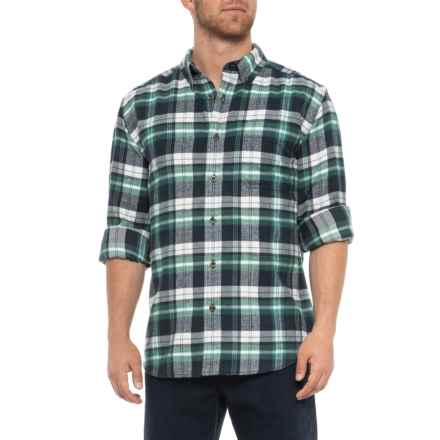Woolrich Midweight Flannel Shirt - Long Sleeve (For Men) in Mallard - Overstock