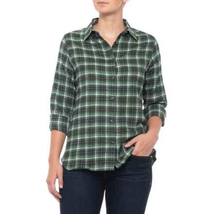 Woolrich Midweight Flannel Shirt - Long Sleeve (For Women) in Mallard Green - Closeouts