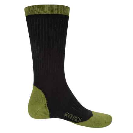 Woolrich Midweight Hike Socks - Merino Wool, Crew (For Men) in Black/Bright Green - Closeouts