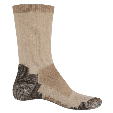 Woolrich Midweight Hiking Socks - Merino Wool, Crew (For Men and Women) in Khaki