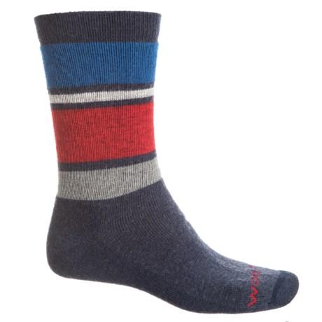 9d1f30b0fc1fe Woolrich Midweight Striped Socks - Merino Wool, Crew (For Men) in Navy