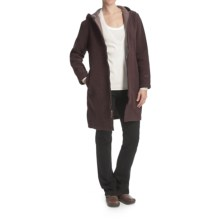 Woolrich Milano Duffle Coat - Wool (For Women) in Raisin Heather - Closeouts