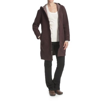 Woolrich Milano Duffle Coat - Wool (For Women) in Raisin Heather