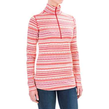 Woolrich Mile Run Shirt - Cotton, Zip Neck, Long Sleeve (For Women) in Dark Guava - Closeouts