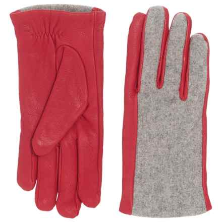 Woolrich Mill Trigger Gloves - Wool and Leather (For Women) in Gray Heather - Closeouts