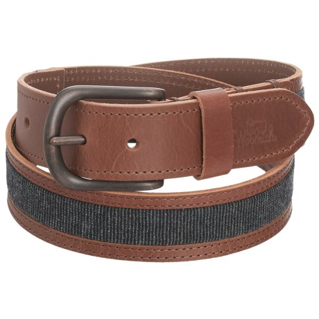 Woolrich Mill Wool and Leather Belt (For Men) in Mahagony