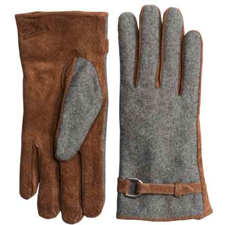 Woolrich Milltown Gloves - Suede, Fleece Lined (For Women) in Light Gray Heather - Closeouts