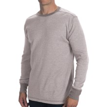 Woolrich Miners Crew Shirt - Long Sleeve (For Men) in Ecru Heather - Closeouts