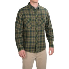 Woolrich Miners Wash Flannel Shirt - Long Sleeve (For Men) in Black Forest Pine - Closeouts