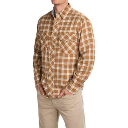 Woolrich Miners Wash Flannel Shirt - Long Sleeve (For Men) in Chicory Creek - Closeouts