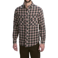 Woolrich Miners Wash Flannel Shirt - Long Sleeve (For Men) in Coal Check - Closeouts