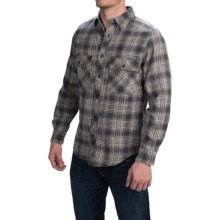 Woolrich Miners Wash Flannel Shirt - Long Sleeve (For Men) in Coal - Closeouts