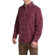 Woolrich Miners Wash Flannel Shirt - Long Sleeve (For Men) in Dark Plum - Closeouts