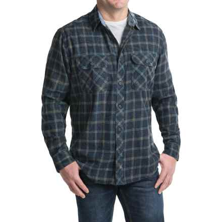 Woolrich Miners Wash Flannel Shirt - Long Sleeve (For Men) in Deep Indigo - Closeouts