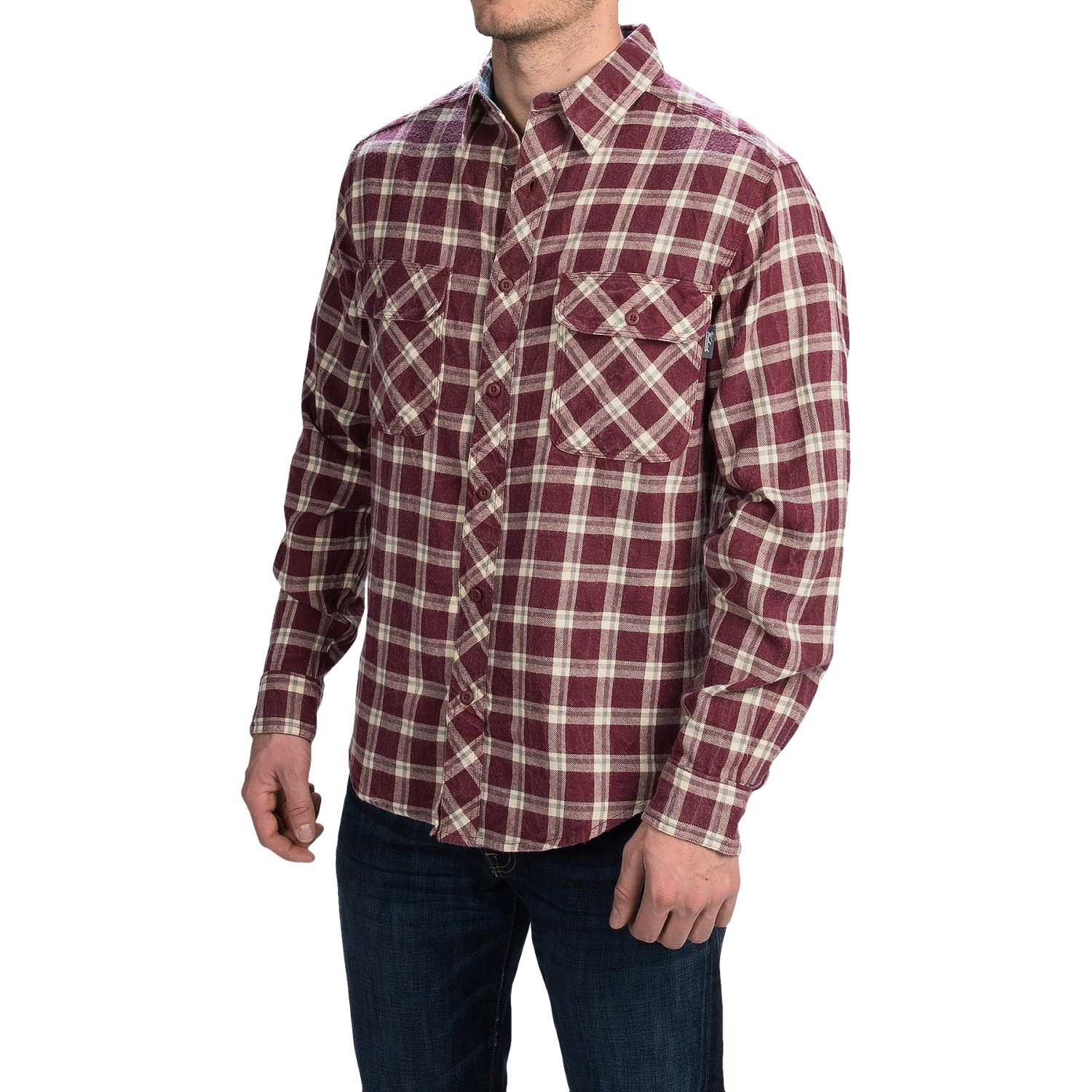 woolrich miners wash flannel shirt for men