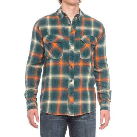 Woolrich Miners Wash Flannel Shirt - Long Sleeve (For Men) in Pacific Teal - Closeouts