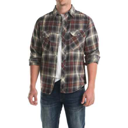 Woolrich Miners Wash Flannel Shirt - Long Sleeve (For Men) in Red Wood - Closeouts