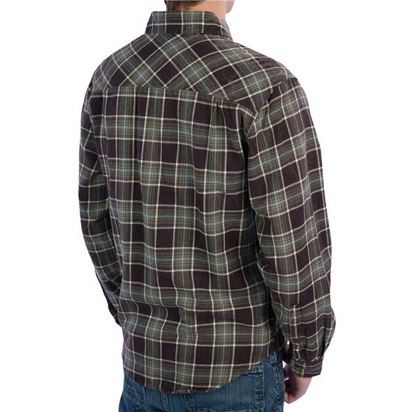 Flannel shirts are a hardy cotton generally I would use cold water as the are usually dark colored. Also you would want to use some type enzyme digester cleaning booster and laundry detergent. As with cleaning anything laundry it's about mechanica.