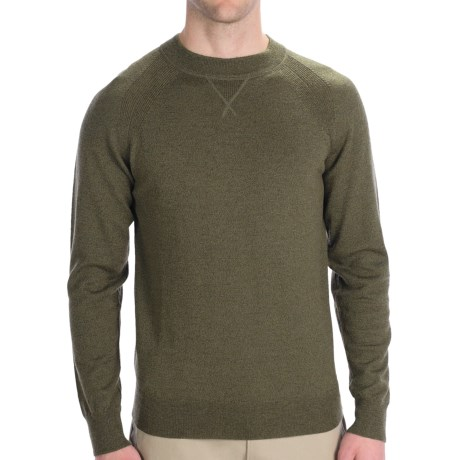 Woolrich Moccasin Run Sweater - Merino Wool, Crew Neck (For Men) in Dark Loden