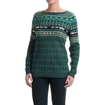Woolrich Mohair Fair Isle II Sweater (For Women) in Deep Forest Combo - Closeouts