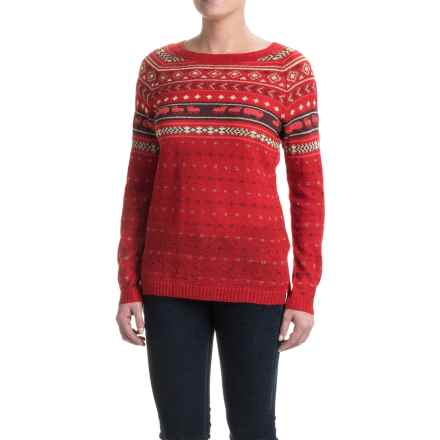 Woolrich Mohair Fair Isle II Sweater (For Women) in Old Red Combo - Closeouts