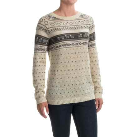 Woolrich Mohair Fair Isle II Sweater (For Women) in Wool Cream Combo - Closeouts