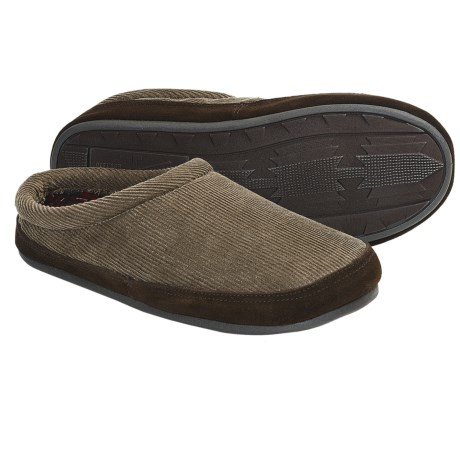 Woolrich Mohawk Slippers - Corduroy, Fleece Lining (For Men) in Dark Wheat