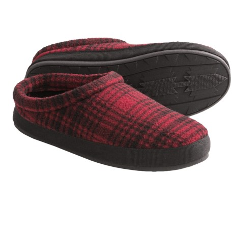 Woolrich Mohawk Slippers - Corduroy, Fleece Lining (For Men) in Plaid