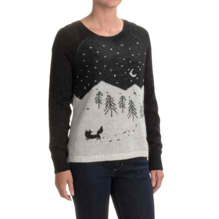 Woolrich Motif Mohair Sweater (For Women) in Black - Closeouts