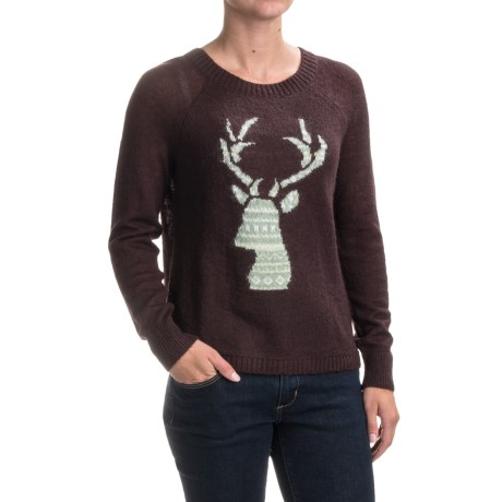 Woolrich Motif Mohair Sweater (For Women) in Burgandy