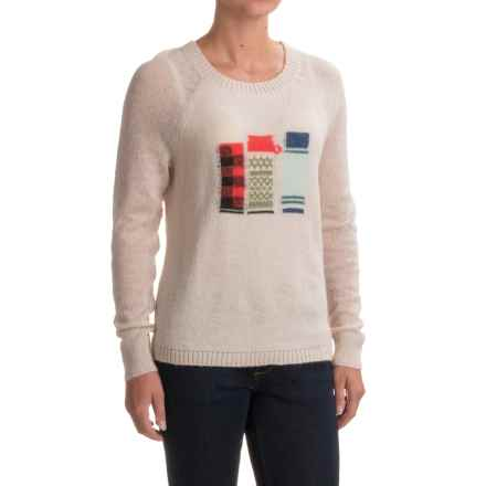 Woolrich Motif Mohair Sweater (For Women) in Silver Grey Heather - Closeouts