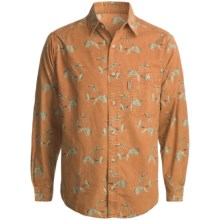 Woolrich Mountain Run Shirt - Long Sleeve (For Men) in Dark Pumpkin Fly Duck - Closeouts