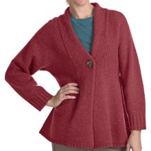 Woolrich Mountainside Shetland Wool Cardigan Sweater - Single Button (For Women) in Deep Ruby - Closeouts