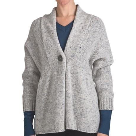 Woolrich Mountainside Shetland Wool Cardigan Sweater - Single Button (For Women) in Frost