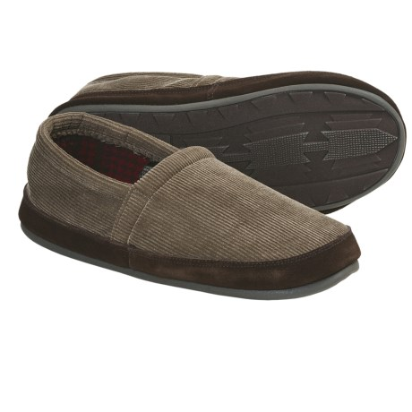 Woolrich Mulligan Slippers - Fleece (For Men) in Dark Wheat Corduroy