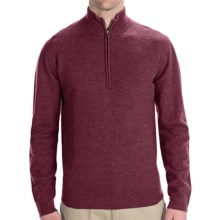 Woolrich Navigator Sweater - Zip Neck (For Men) in Deep Ruby Heather - Closeouts