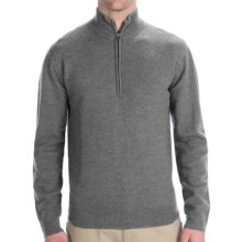 Woolrich Navigator Sweater - Zip Neck (For Men) in Grey Heather - Closeouts