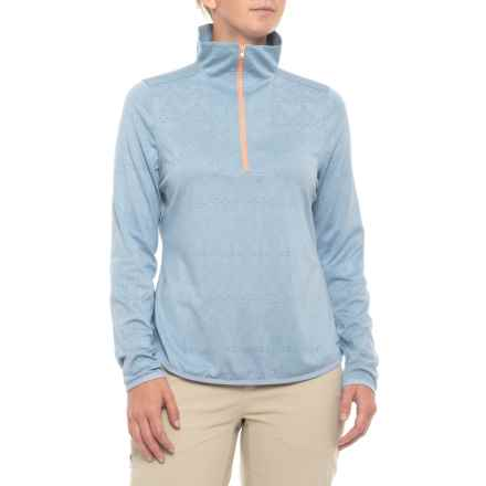 Woolrich New Heights Recycled Blend Shirt - Zip Neck, Long Sleeve (For Women) in Light Bijou Heather - Closeouts