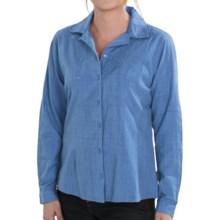 Woolrich New Little Oaks Shirt - Long Sleeve (For Women) in Bluebell - Closeouts