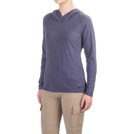 Woolrich Nittany Stripe Hoodie Shirt - Long Sleeve (For Women) in Amethyst - Closeouts