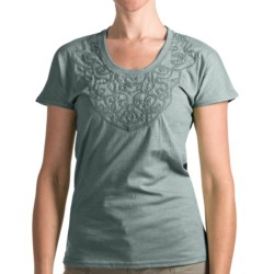 Woolrich Norrine T-Shirt - Short Sleeve (For Women) in Deep Breeze
