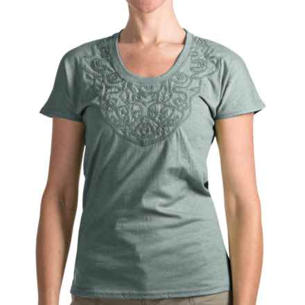 Woolrich Norrine T-Shirt - Short Sleeve (For Women) in Deep Breeze - Closeouts
