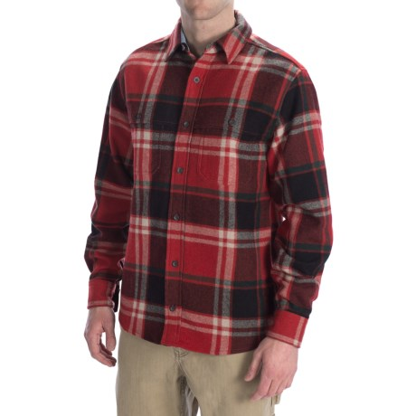 Woolrich North Creek Wool Shirt - Long Sleeve (For Men) in Red