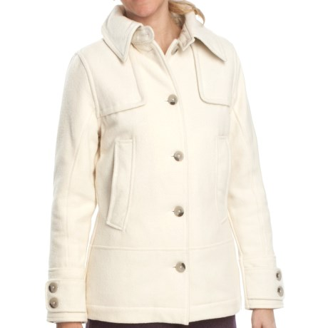 Woolrich Northhampton Wool Coat (For Women) in Winter White