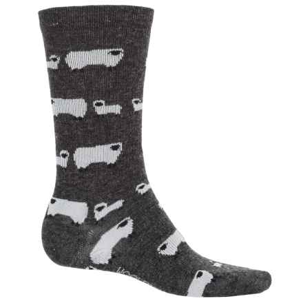 Woolrich Novelty Sheep Socks - Crew (For Women) in Charcoal - Overstock