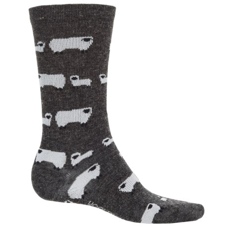 Woolrich Novelty Sheep Socks - Crew (For Women) in Charcoal